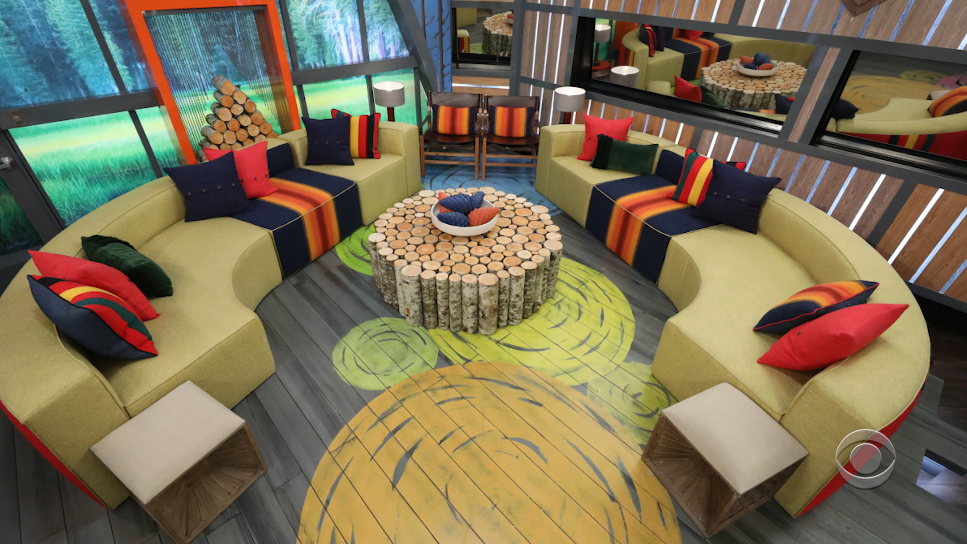 Big Brother - Main living area and couches