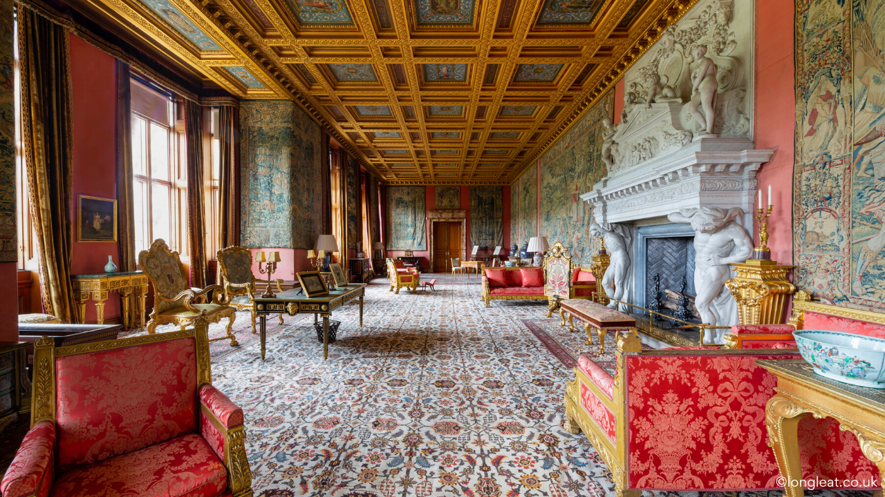 Longleat house - Very large and long room