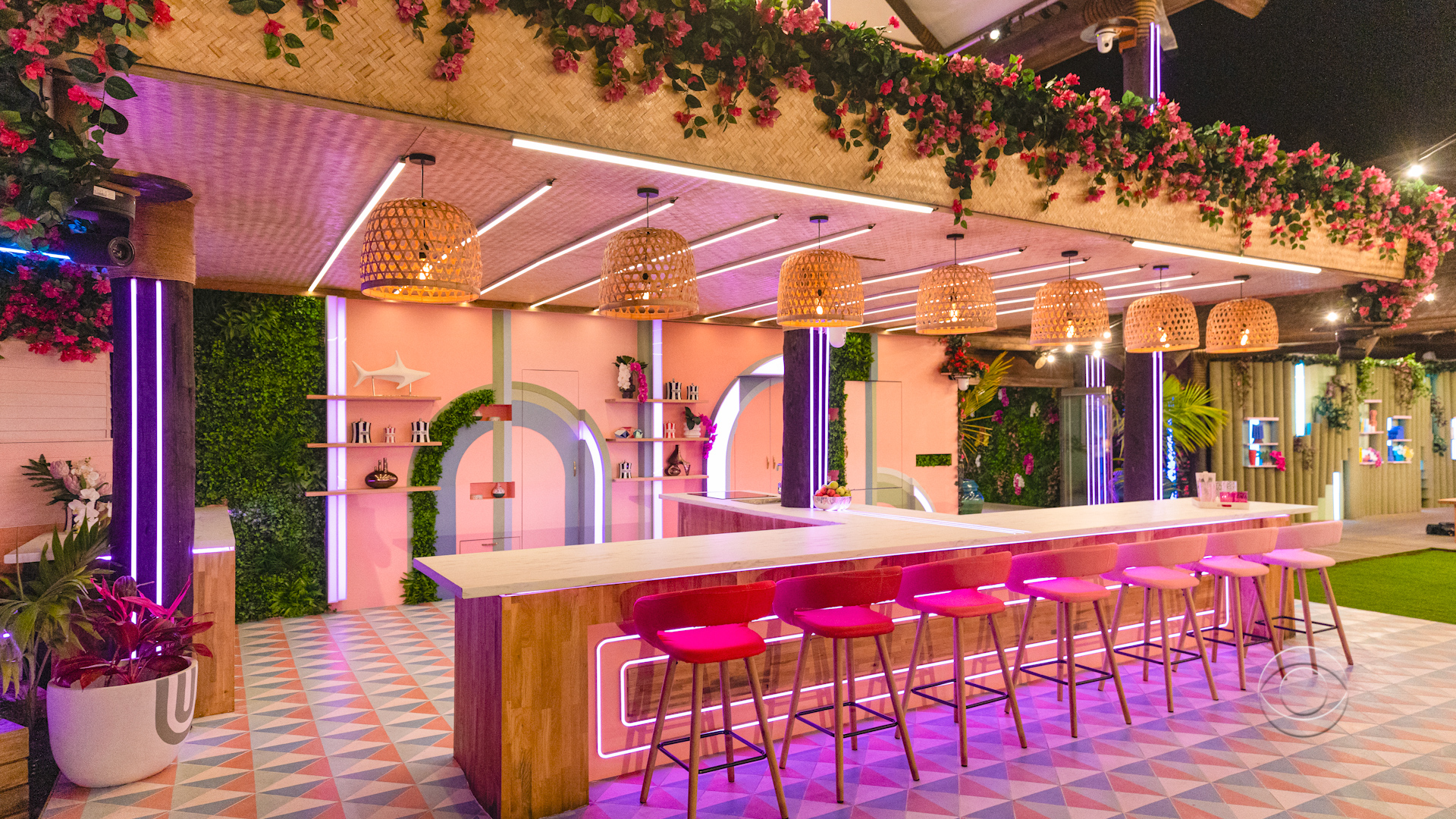 Love Island USA 2 - Outdoor seating nighttime