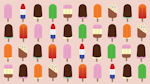 Popsicles - Colorful ice lolly background