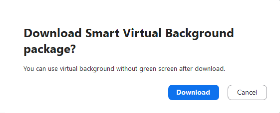 Smart Virtual Background package
